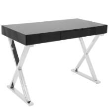 Luster Contemporary Desk in Black