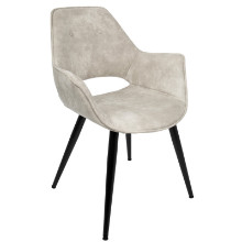 Mustang Contemporary Accent Chair in Beige -Set of 2