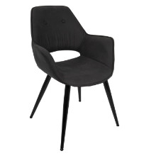 Mustang Contemporary Accent Chair in Black -Set of 2