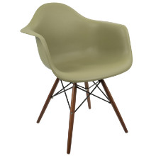 Neo Flair Mid-Century Modern Chairs in Olive and Espresso  - Set of 2