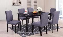 Nora-7PC 7 pc Latitude run cliett nora espresso finish wood dining table set