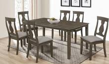 Oregon-7PC 7 pc Latitude run cliett oregon antique oak finish wood dining table set