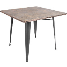Oregon Industrial Dining Table in Grey and