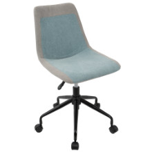 Orzo Height Adjustable Task Chair in Grey and Blue Denim