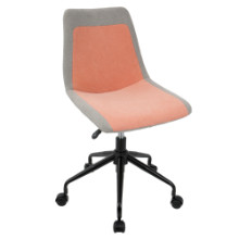 Orzo Height Adjustable Task Chair in Black and Orange Denim