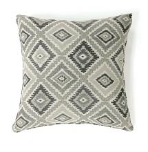 "PL6001GY Set of 2 deamund gray colored fabric 22"" x 22"" throw pillows"