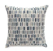 "PL6004BL Set of 2 pianno collection blue colored fabric 22"" x 22"" throw pillows"