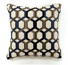 "PL6005BL Set of 2 comney blue colored fabric 22"" x 22"" throw pillows"