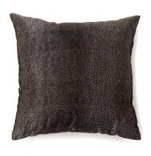 "PL6007 Set of 2 shale black colored fabric 18"" x 18"" throw pillows"
