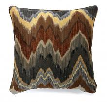 "PL6008 Set of 2 seismy multi colored fabric 18"" x 18"" throw pillows"