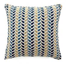 "PL6014 Set of 2 dropp blue and yellow colored fabric 22"" x 22"" throw pillows"