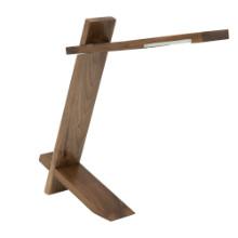 Plank Contemporary Desk Lamp in Walnut