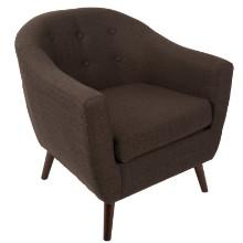 Rockwell Mid Century Modern Accent Mid-century Modern Chair in Espresso
