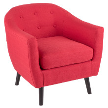 Rockwell Mid Century Modern Accent Mid-century Modern Chair in Red