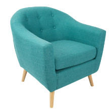 Rockwell Mid Century Modern Accent Mid-century Modern Chair in Teal