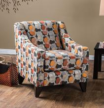 SM1112-CH Pennington multi color patterned fabric accent chair