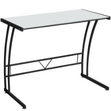 Sigma Contemporary Desk in Black Frame and White