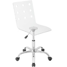 Swiss Height Adjustable Contemporary Office Chair with Swivel in Clear