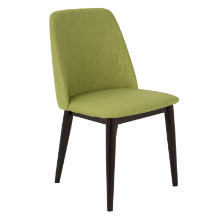 Tintori Mid-Century Dining Chairs in Green Fabric - Set of 2