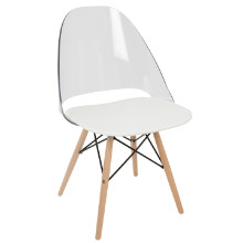 Tonic Mid-Century Modern Dining / Accent Chair in White -Set of 2