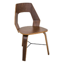 Trilogy Contemporary Dining Chairs in Walnut Wood  - Set Of 2