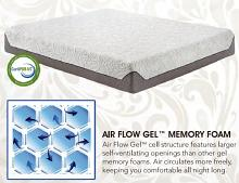 "Ventura Grande 800 CK 8"" standard top with air flow gel memory foam Cal king memory foam mattress"