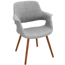Lumisource CHR-JY-VFL-LGY Vintage Flair Mid-century Modern Chair in Light Grey