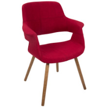 Vintage Flair Mid-Century Modern Chair in Red