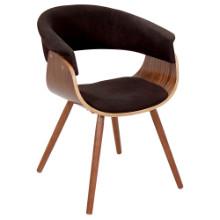 Vintage Mod Mid-century Modern Chair in Walnut and Espresso