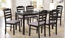 Vista-7PC 7 pc Latitude run cliett Vista espresso finish wood dining table set