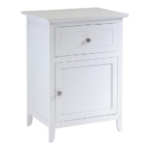 10115 Eugene Accent Table, Nightstand, White