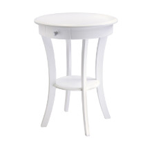 10727 Sasha Accent Table, White