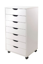 Halifax cabinet for closet / office, 7 drawers, white