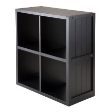 Shelf 2 x 2 Cube with Wainscoting Panel