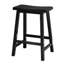 "Satori 24"" saddle seat bar stool black"