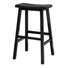 """Satori 29"""" saddle seat bar stool black"""