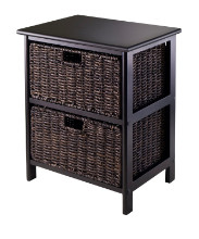 20216 Omaha Storage Rack, 2 Storage Baskets, Black