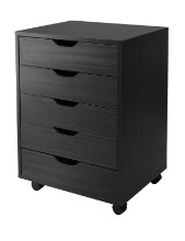 20519 Halifax 5-Drawer Mobile Cabinet, Black