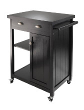 Timber Kitchen Cart with Wainscot panel