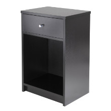 Squamish Accent table with 1 Drawer, Black Finish