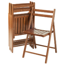 Robin 4-PC Folding Chair Set Teak