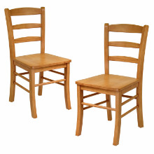 34232 Benjamin Ladder-back Chairs, 2-Pc Set, Light Oak