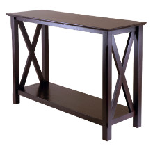 40445 Xola X-Panel Console Hall Table, Cappuccino
