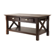 40538 Xola X-Panel Coffee Table, Cappuccino