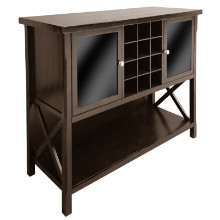 40744 Xola Buffet Display Cabinet, Cappuccino