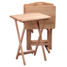 42520 Alex 5-Pc Snack Table Set, Natural