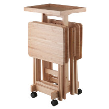 6-PC Snack Table Set Natural