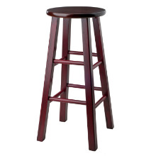 "Ivy 29"" Bar Stool Walnut/Maroon"