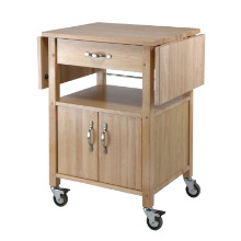 84920 Rachael Drop Leaf Utility Kitchen Cart, Natural