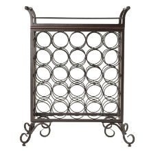 Silvano Wine Rack 5x5 with Removable Tray, Dark Bronze